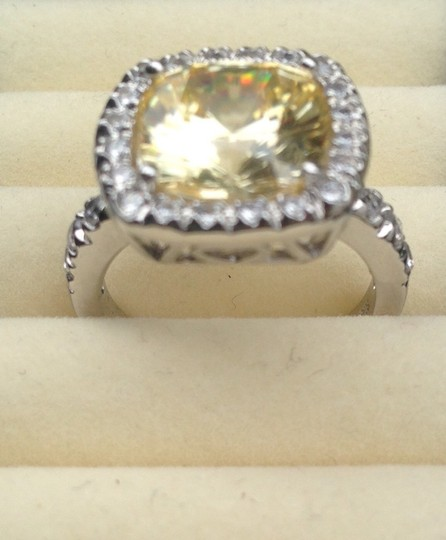 Not Rated Yellow Cubic Zirconia Ring