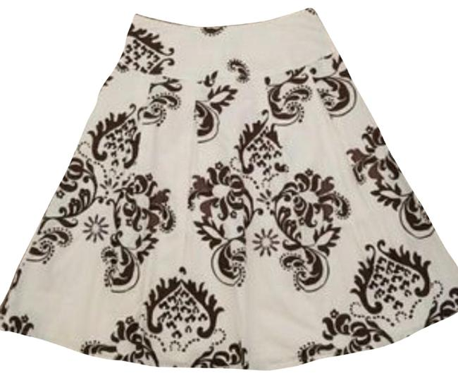 Item - Brown & Creme A-line Skirt Size 4 (S, 27)