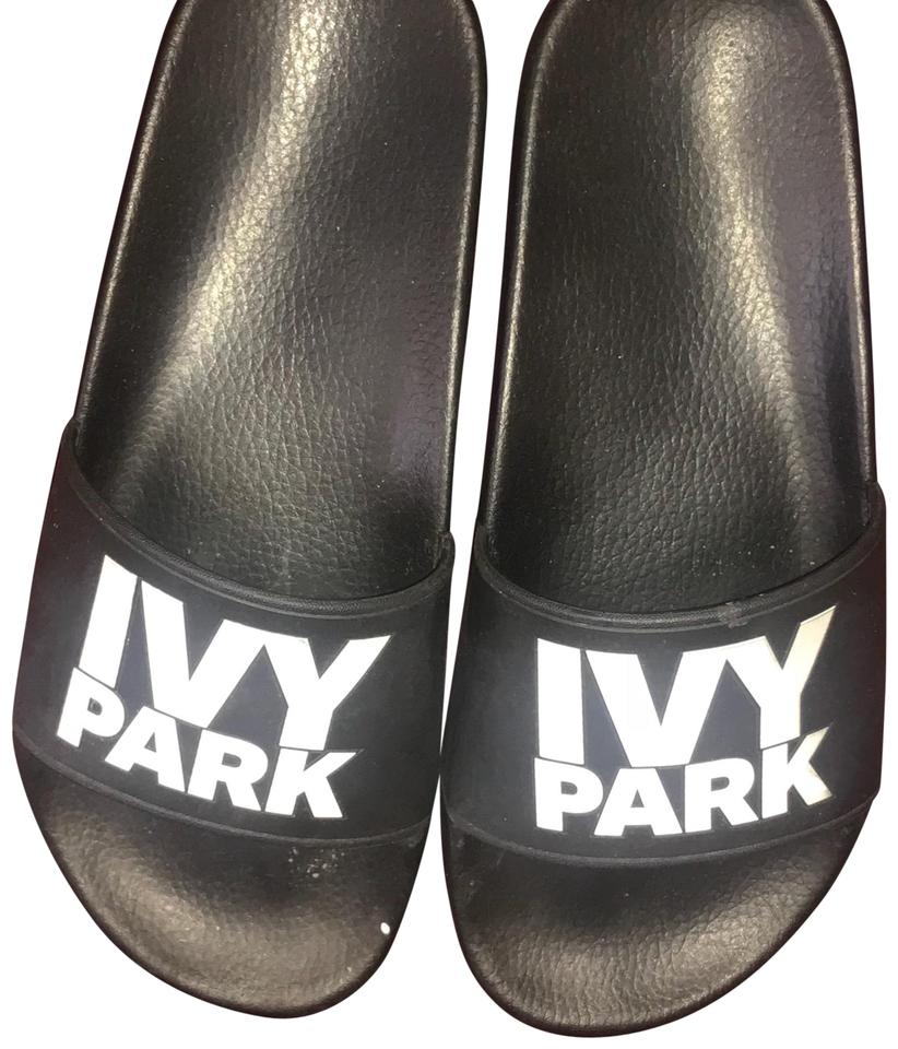 Ivy Park Black Logo Slide Sandals Size Us 5 Regular M B