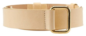 Streets Ahead Streets Ahead Beige Leather Belt, Size M (3699)
