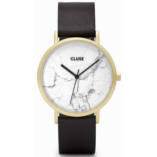 Cluse CL40003 Roche Women's Black Leather Band With White Analog Dial Watch Image 1