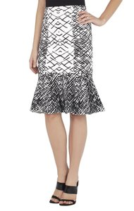 BCBGMAXAZRIA Skirt Black and White