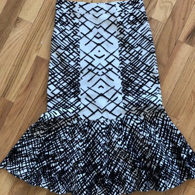 BCBGMAXAZRIA Skirt Black and White Image 4