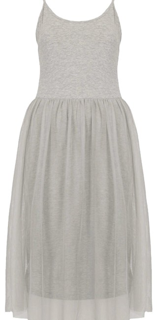 Item - Grey Jersey With Tool Mid-length Casual Maxi Dress Size 4 (S)