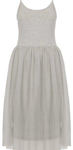 grey Maxi Dress by Topshop