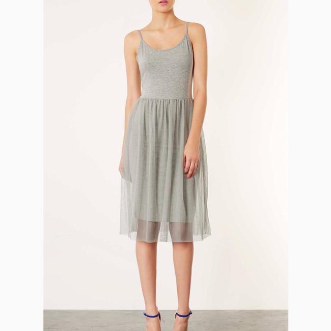 grey Maxi Dress by Topshop Image 1