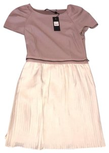 Mackage short dress taupe & cream on Tradesy
