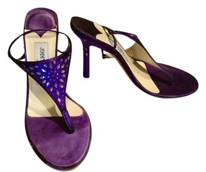 Jimmy Choo Purple Sparkle Sandals