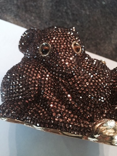 Judith Leiber Minaudiere Crystal Mouse copper Clutch