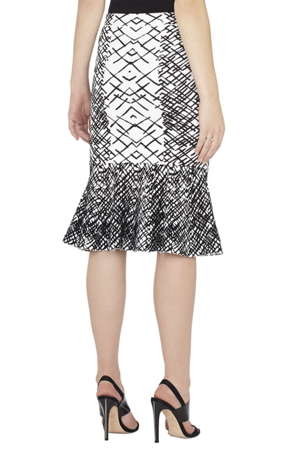 BCBGMAXAZRIA Skirt Black and White Image 1