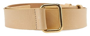 Streets Ahead Streets Ahead Beige Leather Belt, Size M (3700)