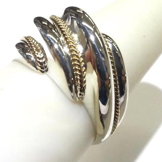 Tiffany & Co. GORGEOUS!! Tiffany & Co. 18 Karat Yellow Gold and Sterling Silver Shrimp Rope Ring Image 3