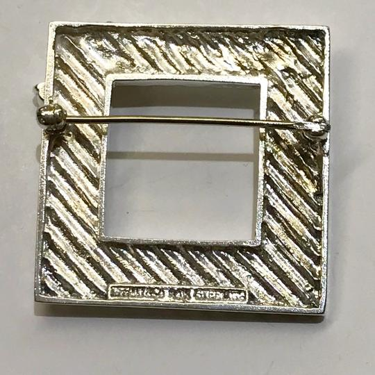Tiffany & Co. RARE!!! Tiffany & Co. 14 Karat Gold and Sterling Silver Vintage Picture Frame Brooch with Bow Image 8