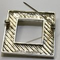Tiffany & Co. RARE!!! Tiffany & Co. 14 Karat Gold and Sterling Silver Vintage Picture Frame Brooch with Bow Image 9