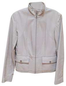 Kenneth Cole cream Leather Jacket