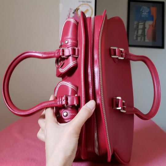 Dior Lady Tote in Red Image 7