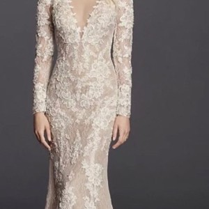 Galina Ivory Lace Sexy Wedding Dress Size 0 (XS)