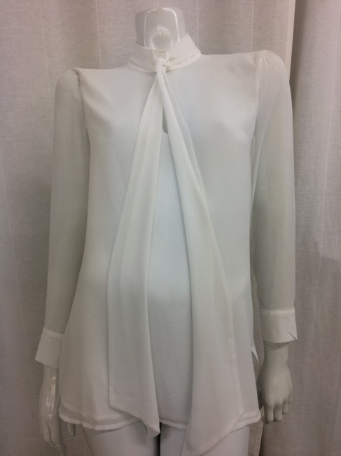 Marciano Tie-neck Keyhole Top White Image 2
