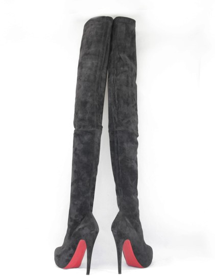 Christian Louboutin Thigh High Over The Knee Black Boots Image 6