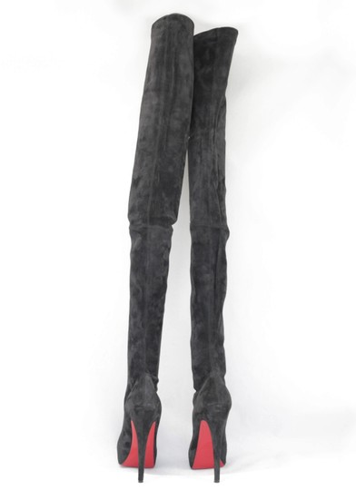 Christian Louboutin Thigh High Over The Knee Black Boots Image 7