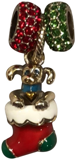 Item - Red Green Silver Christmas Puppy J99782 Glitter Spacer Jc1482 Glitter Spacer Jzc1487 Charm