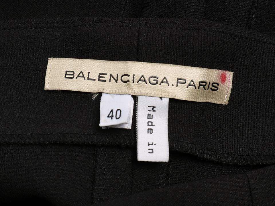 incredible prices arriving good Balenciaga Black *sold Ebay*black High Waisted Silk Stretch Zipper Cuff  Pants Size 6 (S, 28)