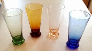 Multi-color Drinking Decorative Shot Glasses 4 Pack 4