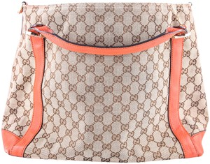 Gucci Miss Gg Leather Tote in BROWN/ORANGE