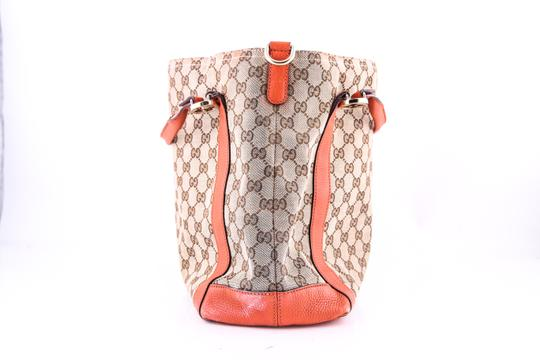 Gucci Miss Gg Leather Tote in BROWN/ORANGE Image 1