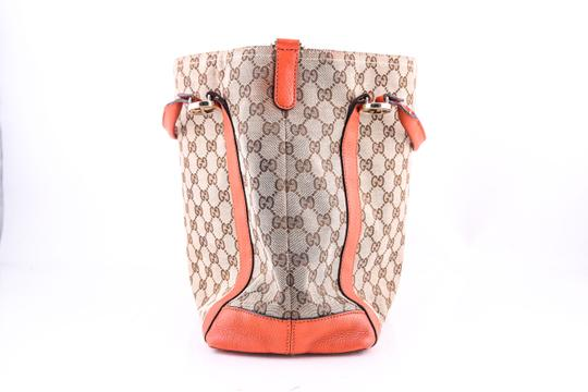 Gucci Miss Gg Leather Tote in BROWN/ORANGE Image 2