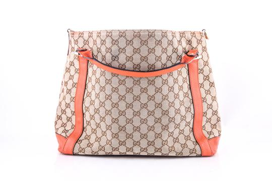 Gucci Miss Gg Leather Tote in BROWN/ORANGE Image 3