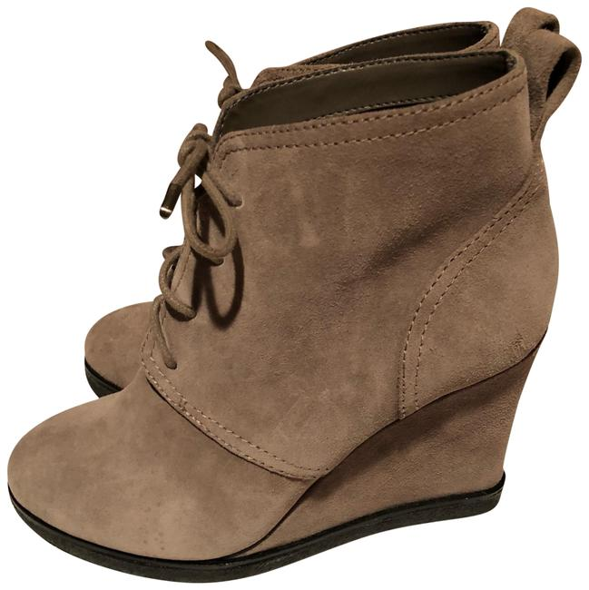 Vince Camuto Taupe Booties Wedges Size US 6.5 Regular (M, B) Vince Camuto Taupe Booties Wedges Size US 6.5 Regular (M, B) Image 1