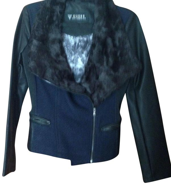 Preload https://img-static.tradesy.com/item/22530258/guess-navy-fur-collar-mixed-media-moto-jacket-size-8-m-0-1-650-650.jpg