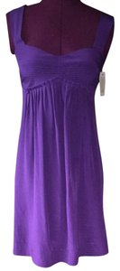 Neiman Marcus short dress Purple on Tradesy