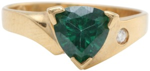 other 1.63 Carat Evergreen Topaz and Diamond in 14K Solid Yellow Gold Ring