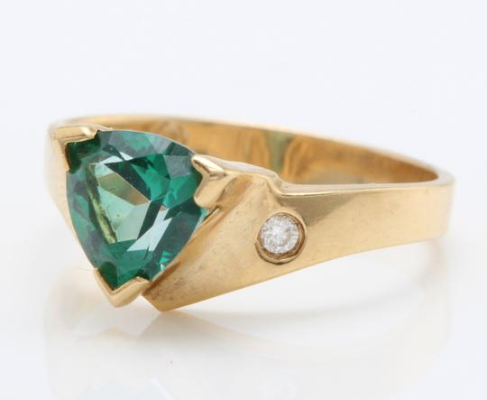 other 1.63 Carat Evergreen Topaz and Diamond in 14K Solid Yellow Gold Ring Image 1