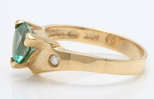 other 1.63 Carat Evergreen Topaz and Diamond in 14K Solid Yellow Gold Ring Image 2