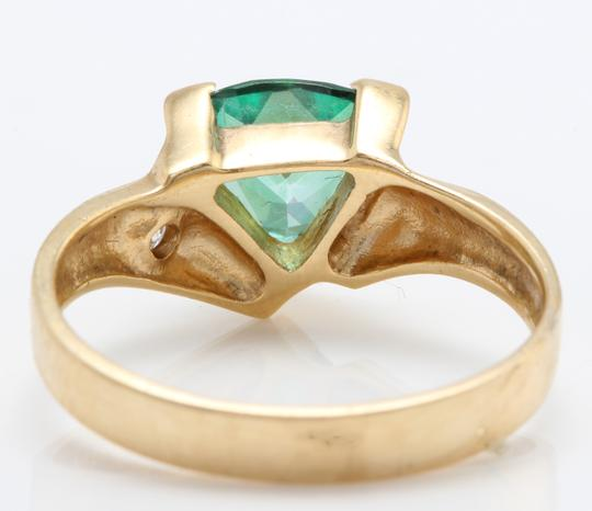 other 1.63 Carat Evergreen Topaz and Diamond in 14K Solid Yellow Gold Ring Image 3