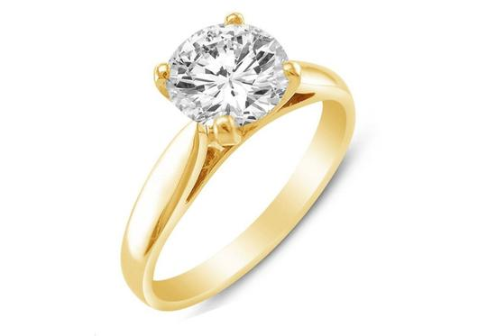 Yellow Gold 14k Round 1.50ct Solitaire Sizes 4-10 Engagement Ring Image 1