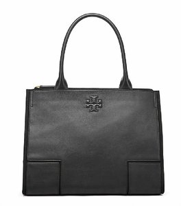 Tory Burch Leather Large Winter Tote in Black