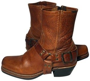 Frye 77345 Harness Motorcycle Size 6.5 Women Size 6.5 Brown Boots