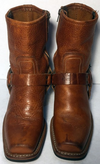 Frye 77345 Harness Motorcycle Size 6.5 Women Size 6.5 Brown Boots Image 1