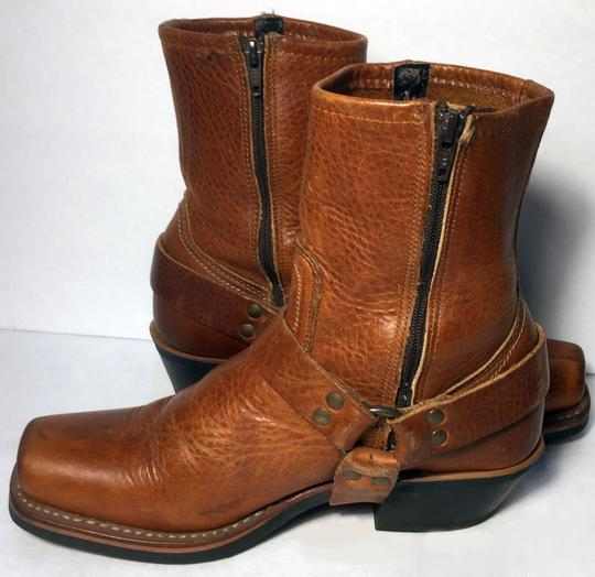 Frye 77345 Harness Motorcycle Size 6.5 Women Size 6.5 Brown Boots Image 2