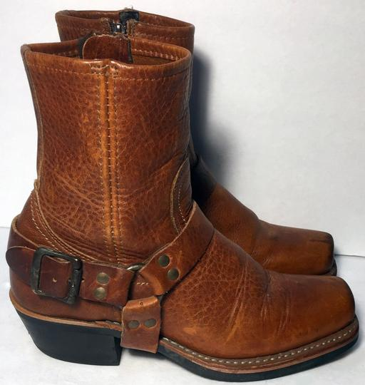 Frye 77345 Harness Motorcycle Size 6.5 Women Size 6.5 Brown Boots Image 3