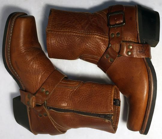 Frye 77345 Harness Motorcycle Size 6.5 Women Size 6.5 Brown Boots Image 4