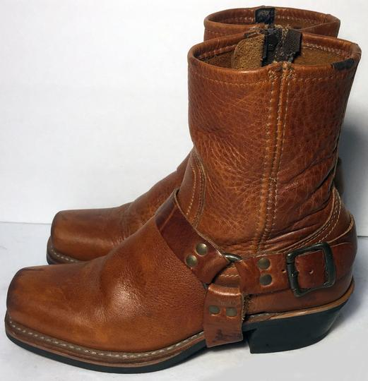 Frye 77345 Harness Motorcycle Size 6.5 Women Size 6.5 Brown Boots Image 5