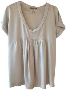 Jigsaw Tencel Babydoll Cap Sleeve Top Grey
