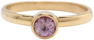 other .46 TCW Natural Pink Montana Sapphire in 14K Solid Yellow Gold Ring
