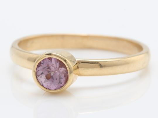other .46 TCW Natural Pink Montana Sapphire in 14K Solid Yellow Gold Ring Image 1