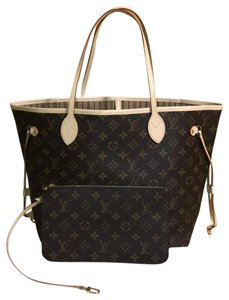 Louis Vuitton Neverfull Neverfull Mm Neverfull With Pouch Neverfull M40995 Tote in monogram